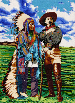 Buffalo Bill and Sitting Bull (Commemorative Poster Image for Eiteljorg Indian Market)